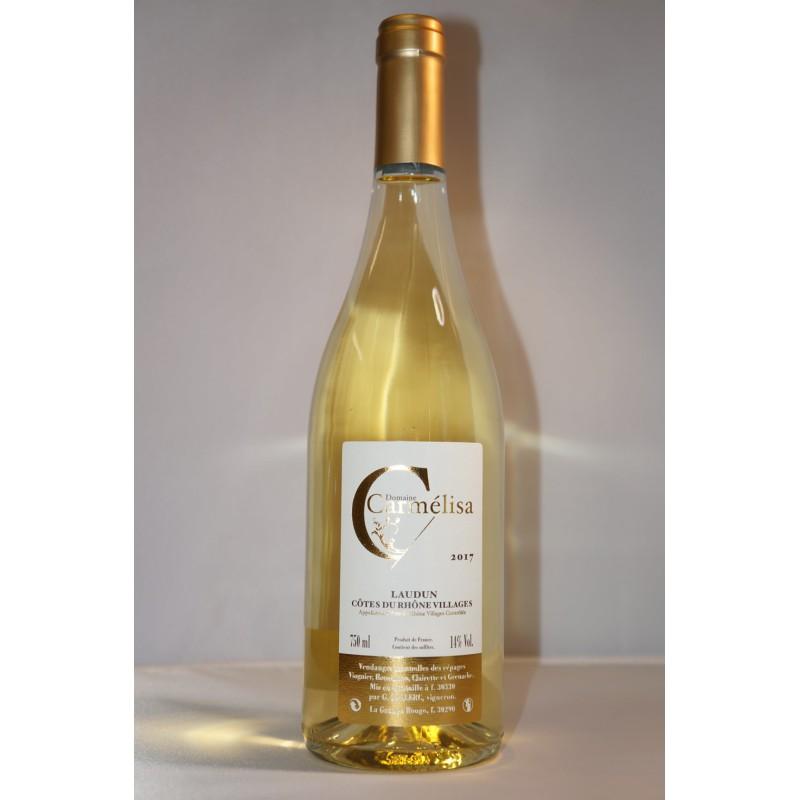 Domaine Carmélisa white wine Côtes du Rhône Village Laudun.